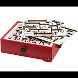 BRIO Labyrinth Spel - Röd med 2 st Övningsplattor