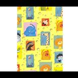 Presentpapper Zoo Gul  0,57 x 5m