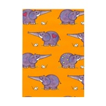 Presentpapper Elefanten Orange  0,57 x 5m