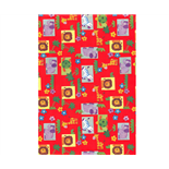 Presentpapper Afrikas Djur Röd 0,57 x 5 m