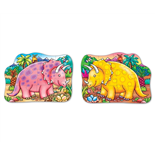 Orchard Toys 2-sidigt Pussel Dino Triceratops