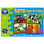 Orchard Toys Pussel Farm four in a box