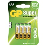 GP Super Alkaline AAA Batterier 4-Pack