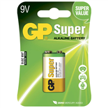 GP Super Alkaline 9V Batteri