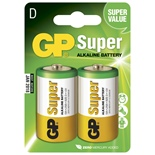 GP Super Alkaline D Batterier 2-Pack