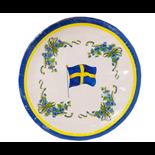 Papperstallrikar Svenska Flaggan