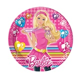 Papperstallrikar Barbie