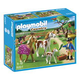 Playmobil Hage med Hästfamilj