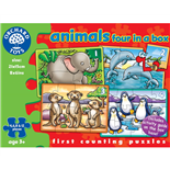 Orchard Toys Pussel Animals Four in a Box