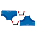 AquaPlay T-korsningar med kopplingar 2-pack