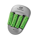 GP PowerBank Quick 3 med 4st 2600mAh AA NiMH Batterier