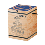 Kapla Byggstavar 280 st i Trälåda med Kaplabok Blå