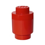 LEGO Förvaringslåda Rund 1 Röd