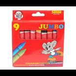 Sense Färgkritor Jumbo 9-pack
