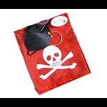 Den Goda Fen Pirat Set Klut Röd + Ögonlapp