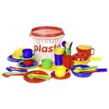 Plasto Hink med Köksleksaker 39 Delar