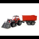 Plasto Traktor med Skopa & Släp