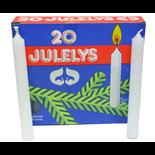 Julgransljus Vita 20-Pack