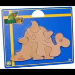 WoodiToys Träpussel 9 Bitar Dinosaurie
