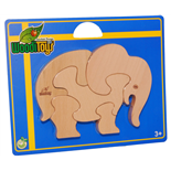 WoodiToys Träpussel 5 Bitar Elefant