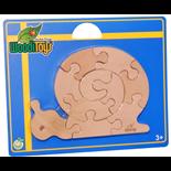 WoodiToys Träpussel 10 Bitar Snigel