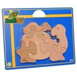WoodiToys Träpussel 6 Bitar Sköldpadda med Baby