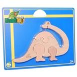 WoodiToys Träpussel 4 Bitar Babydinosaurie