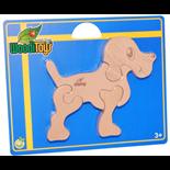 WoodiToys Träpussel 4 Bitar Hund