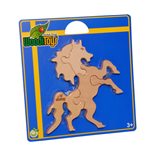 WoodiToys Träpussel 5 Bitar Häst