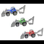 Plasto Traktor med Frontlastare och Grävare
