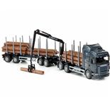 Emek Scania Highline Timmerbil med Släp Svart