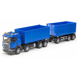 Emek Scania R Lastväxlare med släp Blå 1:25