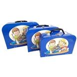 Resväskor i Papp Blåa 3-Pack