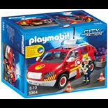 Playmobil Brandmästarens Bil med Lampor och Ljud
