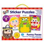 Galt Sticker Puzzles - Funny Faces