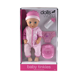 Dolls World Docka Baby Tinkle Rosa 38 cm