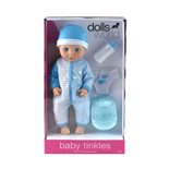 Dolls World Docka Baby Tinkle Blå 38 cm