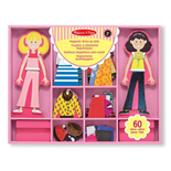 Melissa & Doug Abby & Emma Magnetic Dress-up Dolls