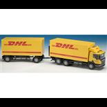 Emek Scania Distributionsbil med Släp DHL 1:25
