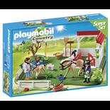 Playmobil Superset Paddock med Hästtransportvagn