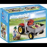 Playmobil Traktor med Lastflak
