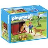 Playmobil Golden Retriever med Valp