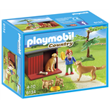Playmobil Golden Retriever med Valp
