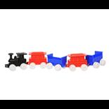 Plasto Tågset med Lok och 4 Vagnar
