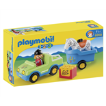 Playmobil 1-2-3 Bil med Hästtransportvagn