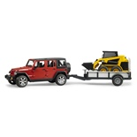 Bruder Jeep Wrangler Unlimited Rubicon + Caterpillar 1:16