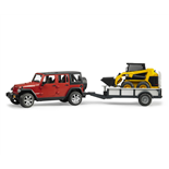 Bruder Jeep Wrangler Unlimited Rubicon + Caterpillar