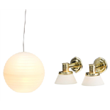 Lundby Småland Rislampa + Vägglampor