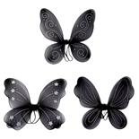 Fjärilsvingar Svarta 1 par
