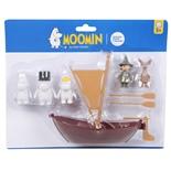 Muminpappans Båt med Figurer
